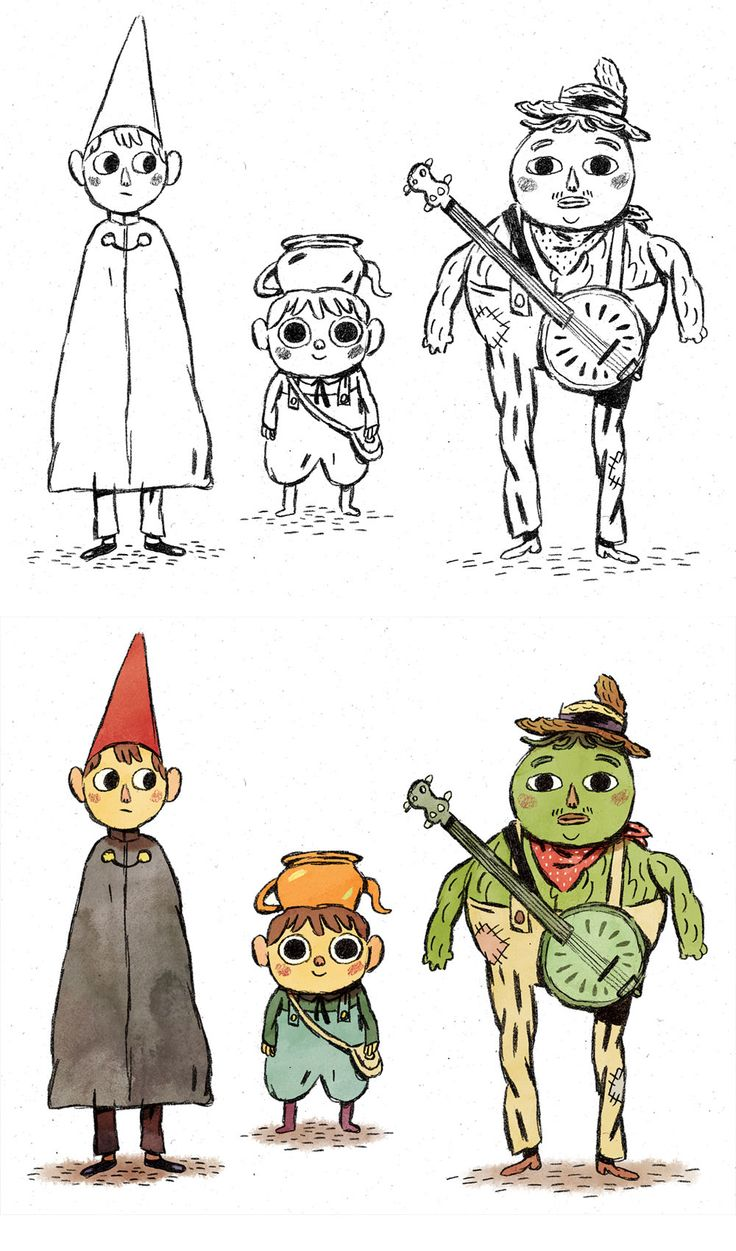 Personagens da minissérie Over the Garden Wall, por Mikkel Sommer | THECAB - The Concept Art Blog