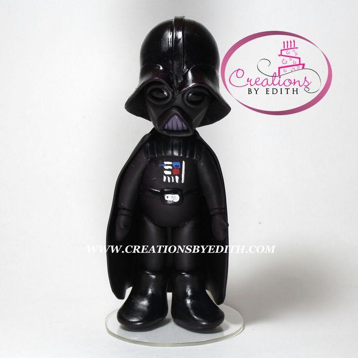 Darth Vader, inspirado en Star Wars, video curso paso a paso en porcelana fria.