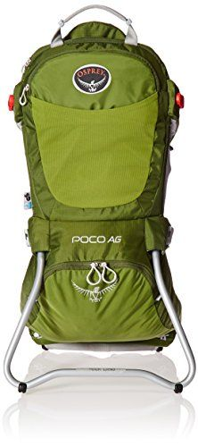 Osprey Packs Poco AG Child Carrier, Ivy Green - To keep your back, shoulders, and hips from aching when you take your little one for a walk, osprey incorporated their award winning ag (anti-gravity) backpacking suspension system into the poco ag child carrier. Lightweight aluminum stays provide load stability and the mesh shoulder harness and ...
