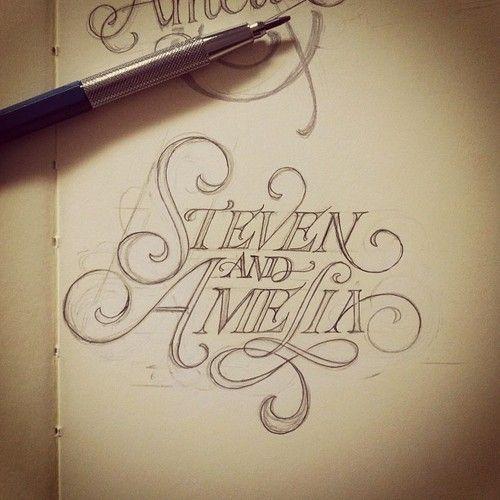 Steven & Amelia: Matthewtapia, Handdrawn, Hands Types, Hands Drawn Types, Hands Letters, Graphics Design, Matthew Tapia, Fonts, Typographic Design