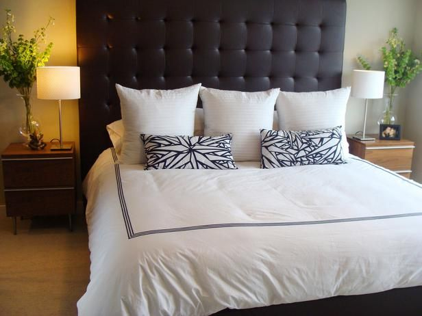 Bed w/ a down comforter.
