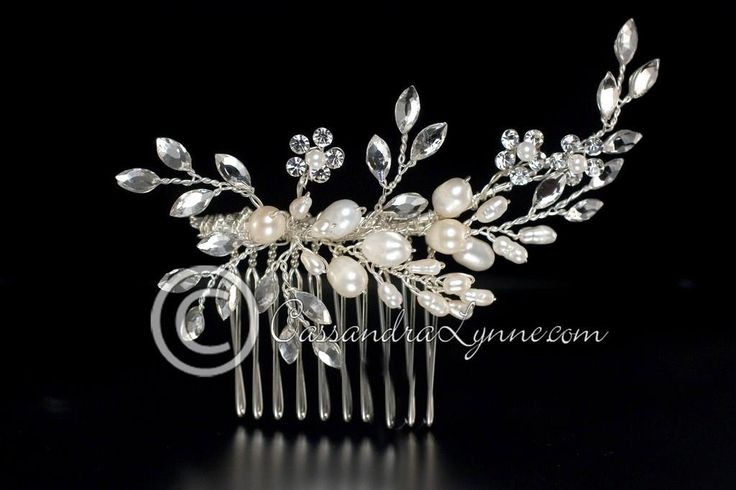 Wedding Hair Comb Rhinestone & Pearl