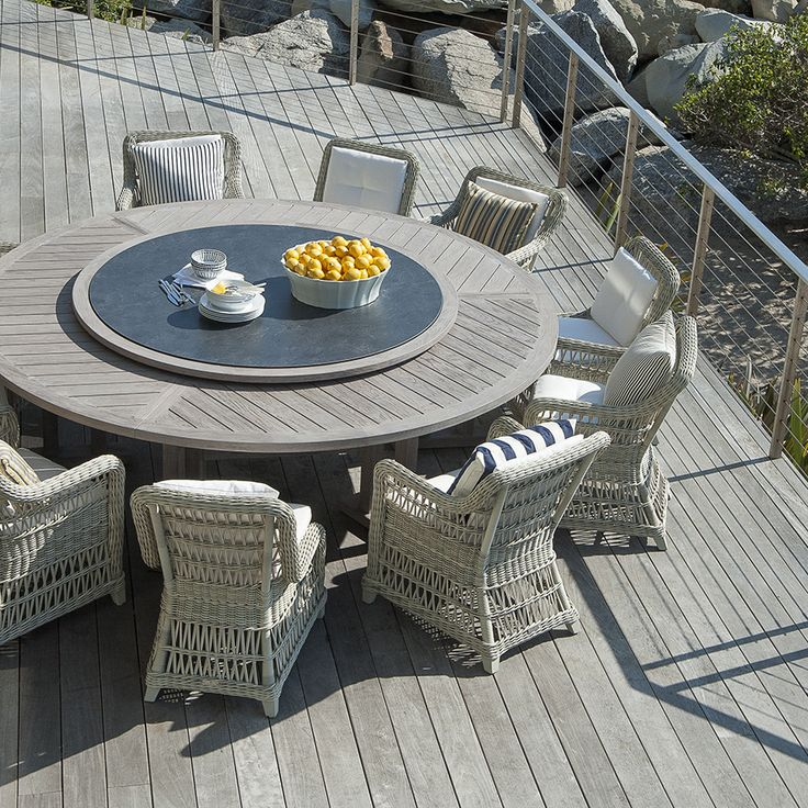 ARBOR DINING TABLE ROUND 239 WITH LAZY SUSAN   JANUS Et Cie · Poolside  FurnitureOutdoor ...