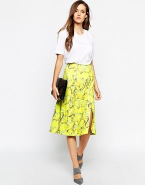 Whistles Skirt with Double Split