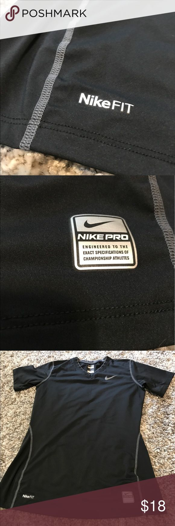 NikeFit NikePro Women's Black Top Keeps you cool while working out or on the go! I don't think I have ever even worn this top! Excellent condition! Offers accepted! Check out my other items and bundle for a discount! Nike Tops