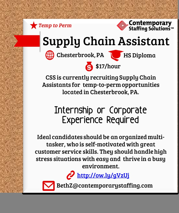 163 best CSS Job Openings! images on Pinterest Fun stuff, The - supply chain assistant sample resume