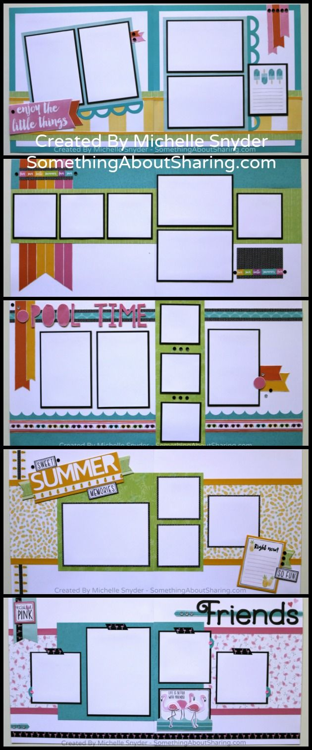 Add a splash of color to your summer scrapbook layouts with this Workshop Kit. Click here to see more. http://somethingaboutsharing.com/june-scrapbook-workshops-kits-2/ #SomethingAboutSharing #ctmhcalypso