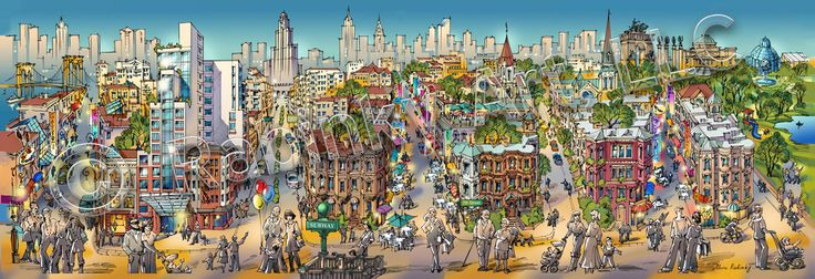 Architectural Illustrations: Argyle Park in Brooklyn, NY Architectural Illustration