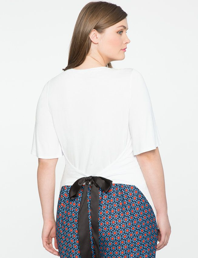 Tie Back Tee from eloquii.com