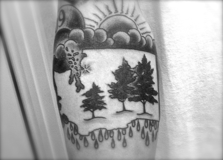 Washington State Tattoo  b/w Tattoo