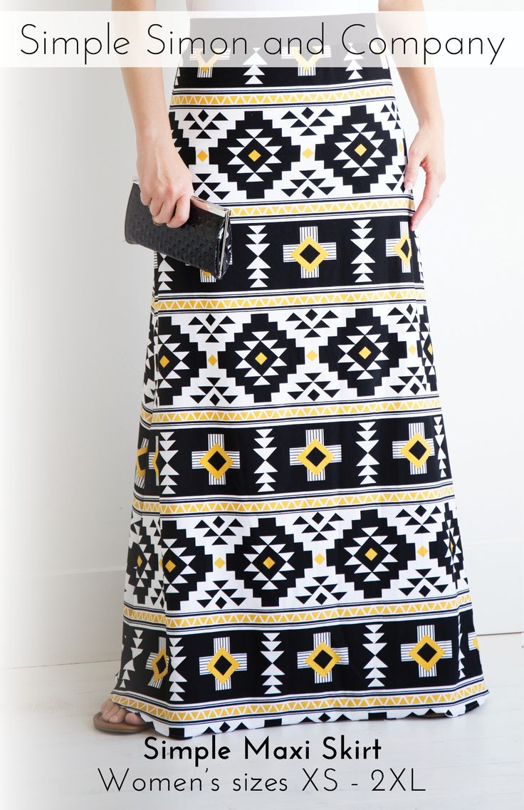 Simple Maxi Skirt PDF Pattern---FREE!!! Simple Simon and Company // Fabric: Four Corners Jersey Knit designed by  Simple Simon for Riley Blake Designs #iloverileyblake #rileyblakedesigns #simplesimon