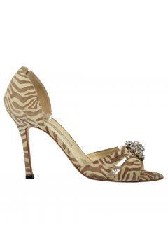 Brian Atwood Kadın Kahve - Bej Topuklu Ayakkabı