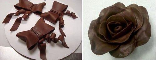 cioccolato plastico al miele,come fare il cioccolato plastico,cioccolato plastico senza glucosio,decorare le torte,decorare con il cioccolato plastico,