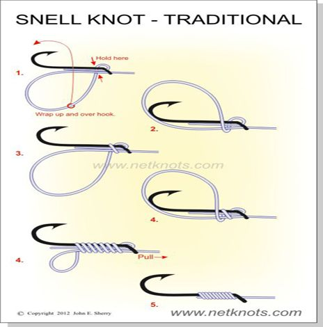 Snell knot for Best fishing hook knot