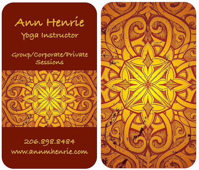 Yoga cards by Diane Anderson Portfolio, via Flickr