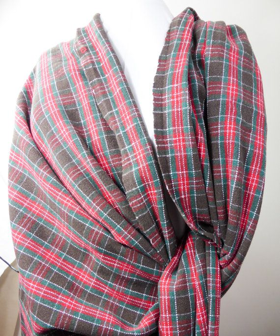 Emerald Forest Tartan Baby Wrap Woven In Plain Weave Warp And