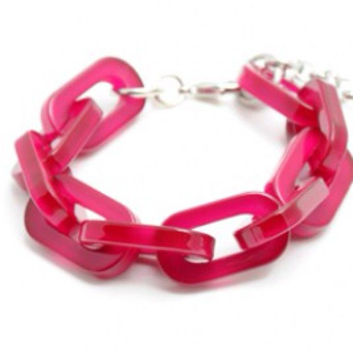 B838HPNK Hot Pink Link Bracelet from Turn Her Style, LLC for $17 on Square Market