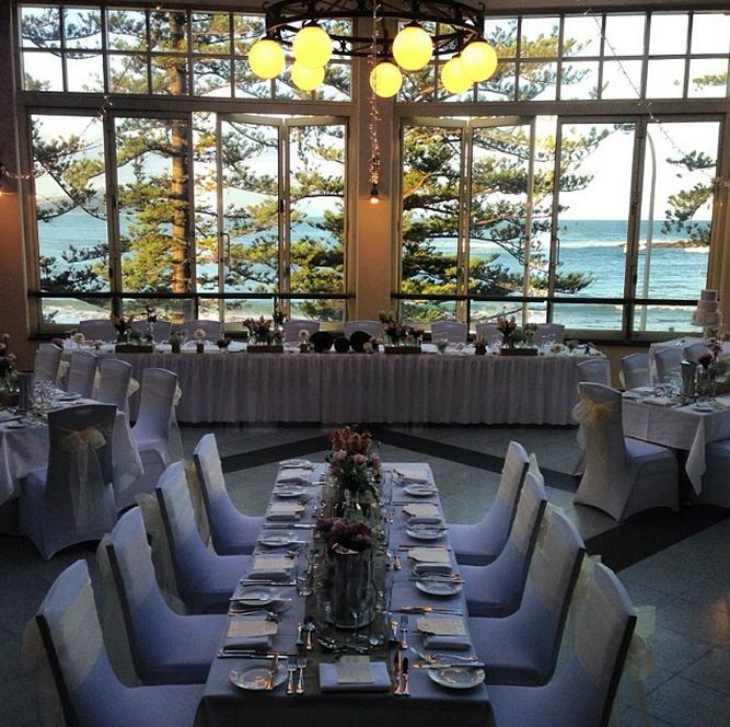 Wedding table settings in Seasalt Restaurant at Crowne Plaza Terrigal. With thanks to When Love Sparks wedding Services and Wamberal Florist #wedding #weddingvenue #Sydney #beach #centralcoast #terrigal #crowneplaza #seasidewedding #seasalt #weddingreception #venue
