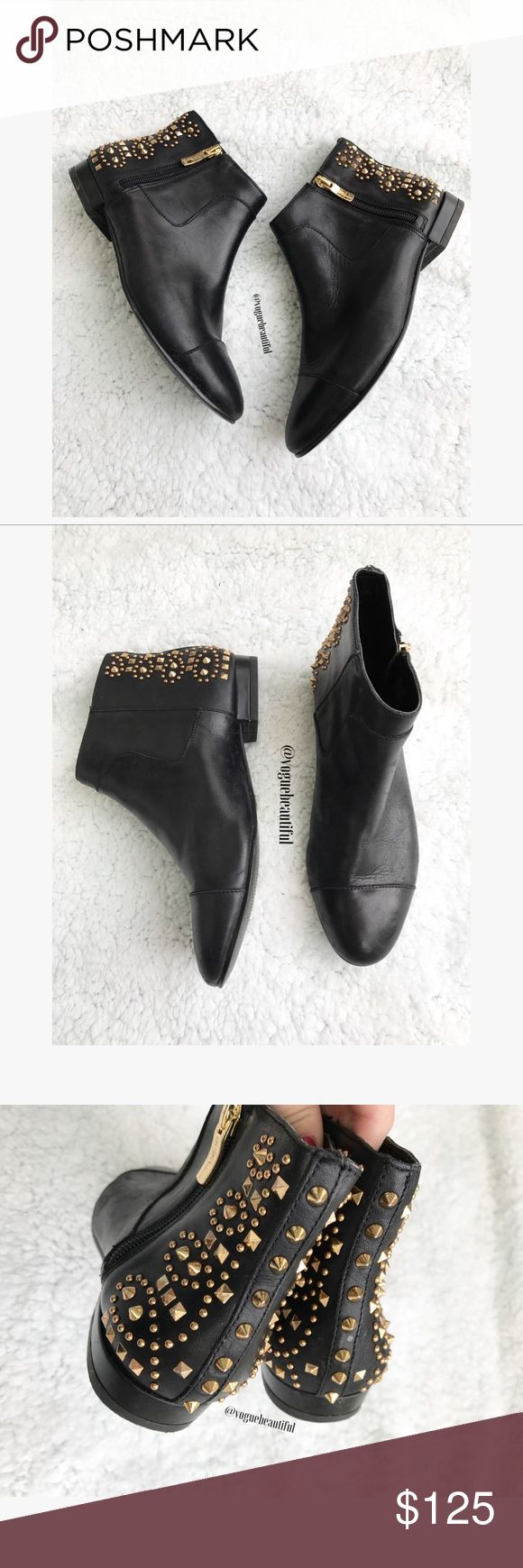 BCBGeneration Leather Logann Studded Booties Absolutely in love with these 😍 • Genuine leather BCBGeneration studded booties • Size 6 M • Good preloved condition with no major wear • .6 inch heel • ‼️NO TRADES‼️ BCBGeneration Shoes Ankle Boots & Booties