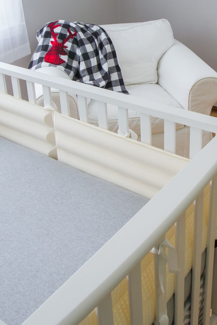 Zellers baby cribs - Classic Nursery With Safety To Match Comfort Joy Together At Last With S Breathable Cushioned Crib Bumper Solution And Go Babe S Maine Made Blanket