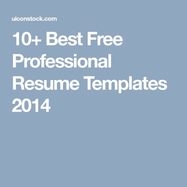 Best 25+ Free professional resume template ideas on Pinterest Cv - free professional resume templates