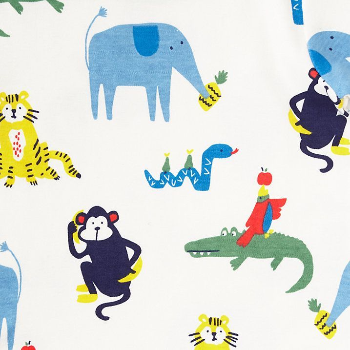 Buy John Lewis Baby Jungle Animal and Striped Pyjamas, Pack of 2, Green/Multi, 3-6 months Online at johnlewis.com
