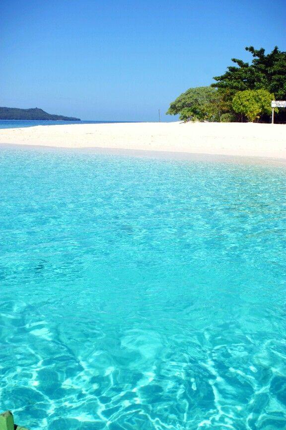 Lihaga clear water island and sand,manado,indonesia