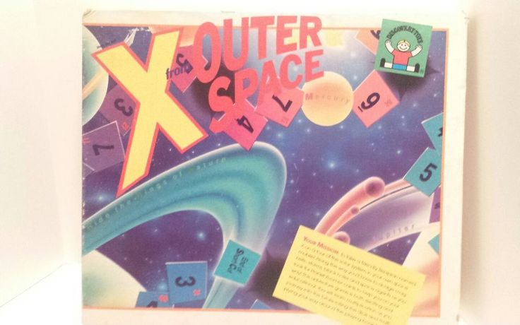 """Vintage 1985 Discovery Toys """"X From Outer Space"""" Educational Game 