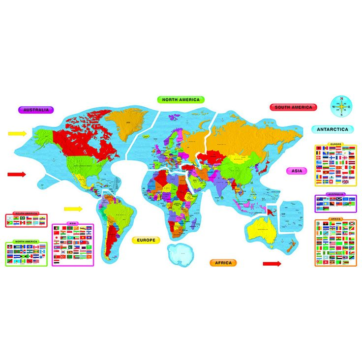Bulletin Board Set, Continents and Countries