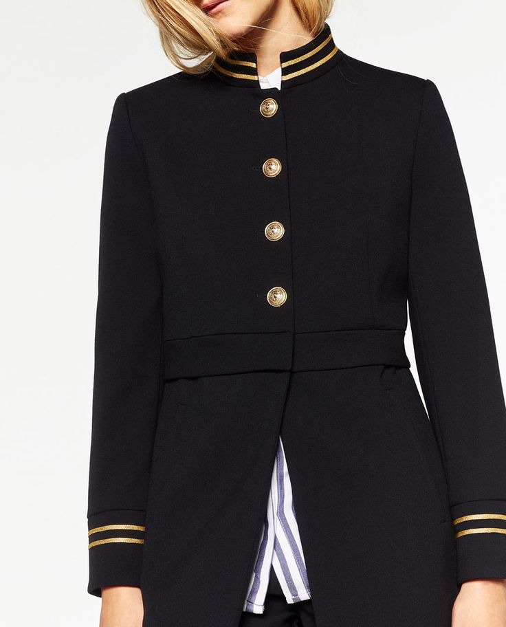 Image 2 of MANDARIN COLLAR FROCK COAT from Zara