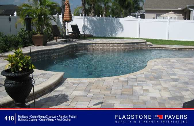 Heritage Cream, Beige, Charcoal Pavers With Cream/beige