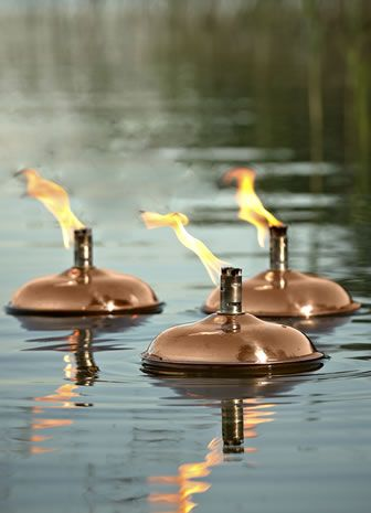 Venice Floating Oil Lamp from Posh Garden Furniture, for use in a pond, swimming pool or lake.