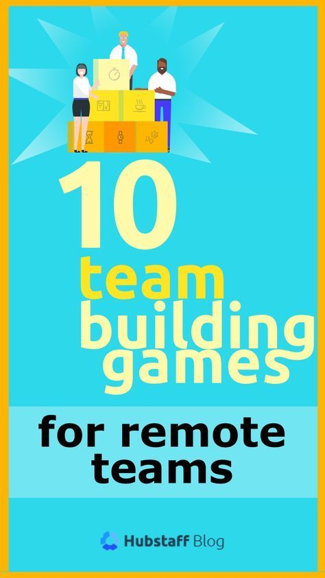 10 Unique Team Building Games Guaranteed to Motivate Remote Teams. In a physical office, people frequently chat, stop by coworkers' cubicles, and even hang out after work, but virtual co-workers often don't have that luxury. That's why it's crucial that remote team managers set aside specific times for fun team-building games. When you don't have a water cooler to congregate around, these activities can fill in as the causal interactions that create bonds of cohesion and teamwork among your
