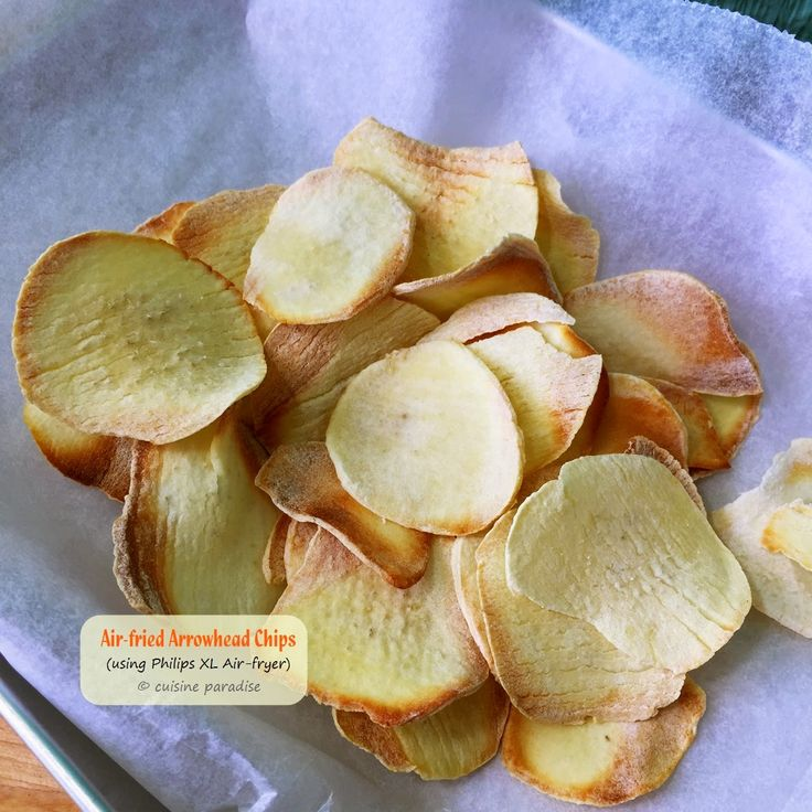 Cuisine Paradise | Singapore Food Blog | Recipes, Reviews And Travel: [with recipes] Homemade Chinese New Year Bakes Air-fried Arrowhead Chips