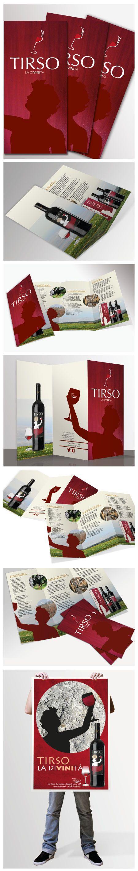 La brochure E Stata progettata per illustrare e promuovere il vino aglianico Tirso, Un vino ispirato alla divinità greca Dionisio. Le varie illustrazioni vanno ad illustrare Oltre al tipo di vino, va ad analizzare also venire SI presentazione, I Vigneti Dove e prodotto, viene quasi Voglia di assaggiarlo.