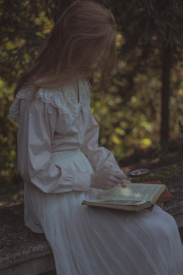 "clavicle-moundshroud: "" Jane Eyre, autumn leaves and cats. http://michalinawozniak.wordpress.com/ """