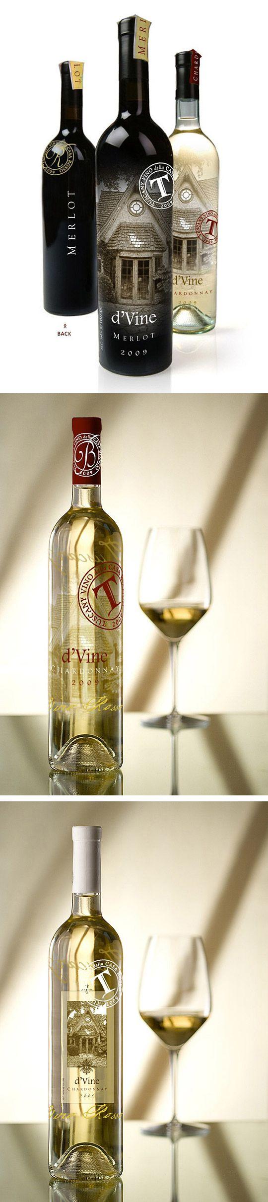 Tuscany & Franck's Restaurant Wine Bottle Designs by Rod Burkholz