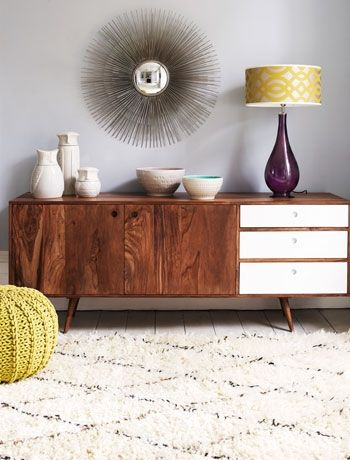 Create a focal point with statement furniture. Jeyo sideboard by Graham and Green.