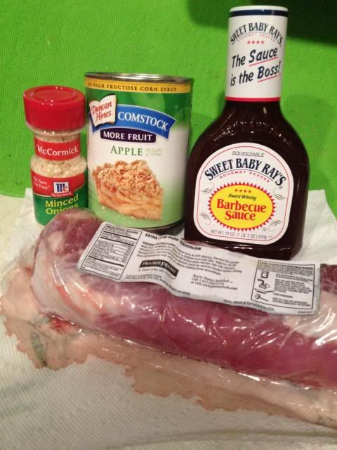 Easy Recipes-Crockpot Apple Barbecue Pork Loin - The Mom Maven