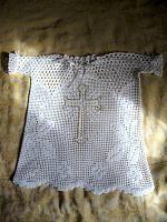 Крестильная рубашка связанная крючком