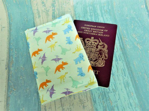 Dinosaur passport cover  dinosaur passport wallet  dinosaur