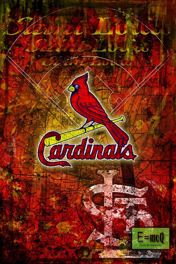 St. Louis Cardinals Poster, Saint Louis Cardinals Artwork Gift, Cardin                      – McQDesign