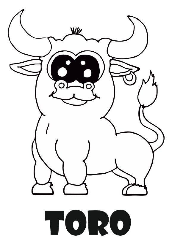 Dibujo De Animales Para Colorear Dibujo Del Toro Para