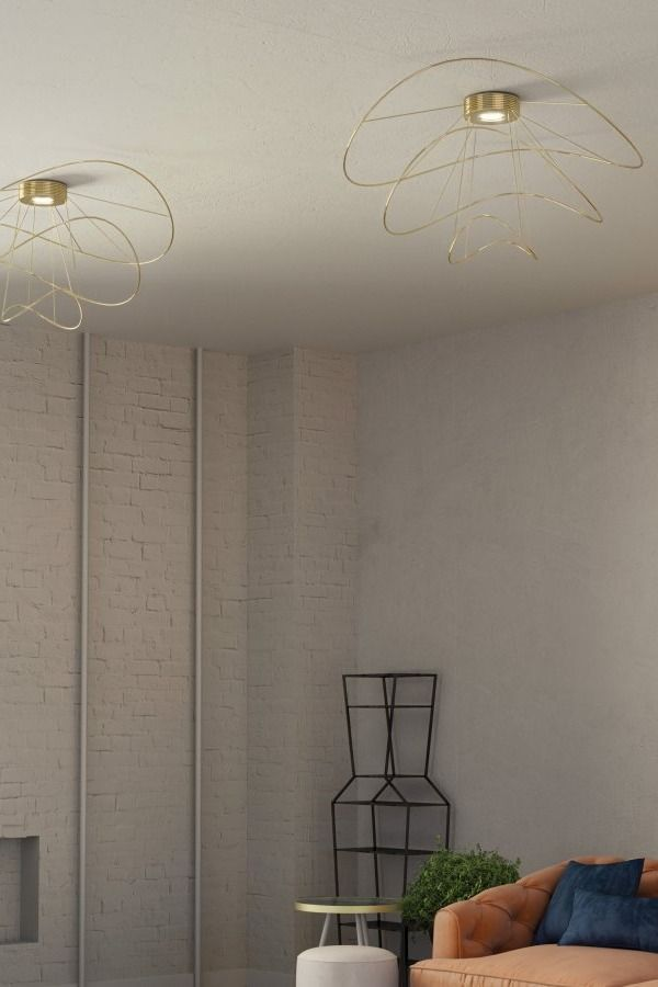 Hoops Ceiling Collection Consisting Of Ceiling Lamps And