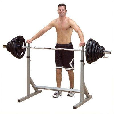Squat Rack. PSS06X Powerline Squat Rack Solid and stable, this Squat Rack holds the bar safe and secure with the heaviest of weights. Bar supports feature height adjustments from 30 inches to 60 inches for doing Flat, Incline and Decline Bench Presses, Squats, Curls, Upright Rows, Shrugs, Calf Raises and much more! Features: -2'' x 2'' mainframe design -Adjusts from 30'' to 60'' Powerline Flat Incline / Decline Bench Allows proper form and positioning for incline and shoulder press...