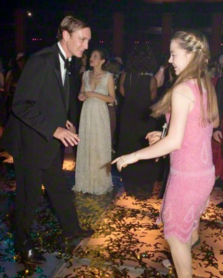 Pierre Casiraghi and his youngest Princess Alexandra of Hanover attend the Rose Ball 2015 in aid of the Princess Grace Foundation at Sporting Monte-Carlo on 28.03.2015 in Monte-Carlo, Monaco.