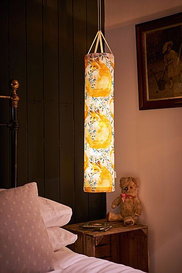 Our Foxy fabric lantern makes a great nightlight or feature light in a children's room. The battery powered lights give off a soft magical glow and are completely safe to leave on all night.