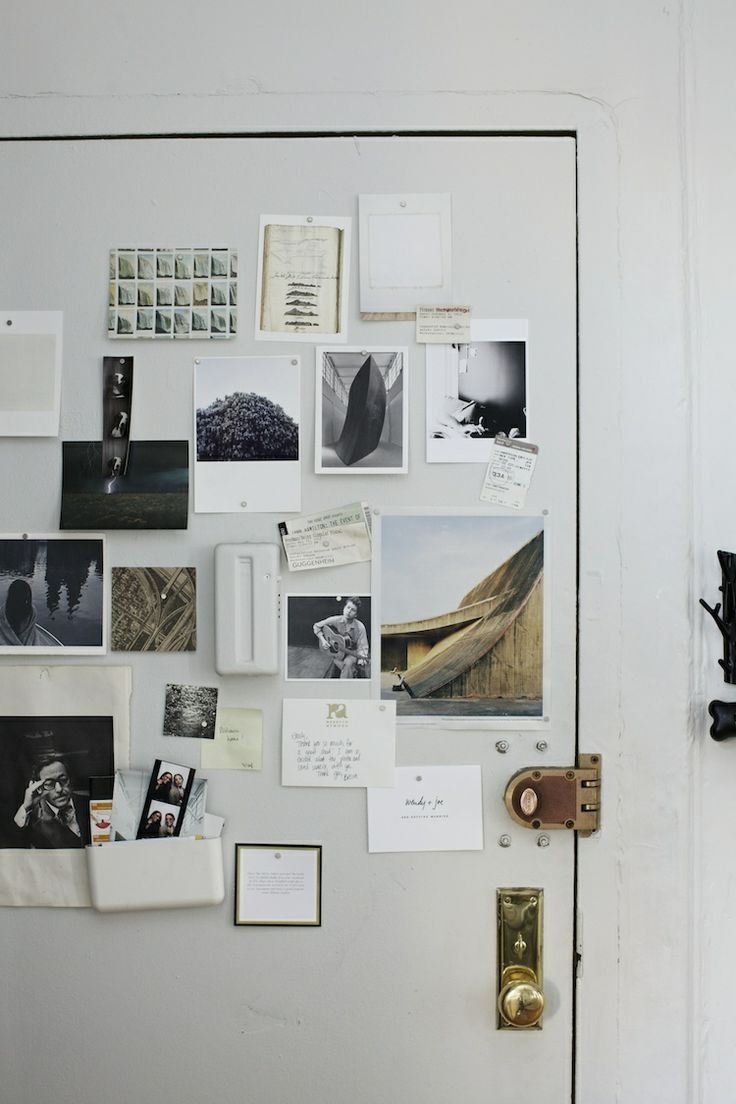 notes/inspiration wall/door