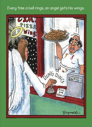 Angel Wings - NobleWorks - Funny Christmas Card