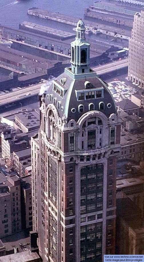 Vintage 1965, Singer Building (once the world tallest, demolished 1968), Broadway and Liberty Street, NYC, www.RevWill.com